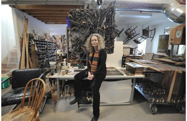 Studio Inside: Edmonton artist's nest a birthplace for action