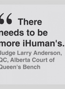 Judge Larry Anderson, QC, Alberta Court of Queen's Bench